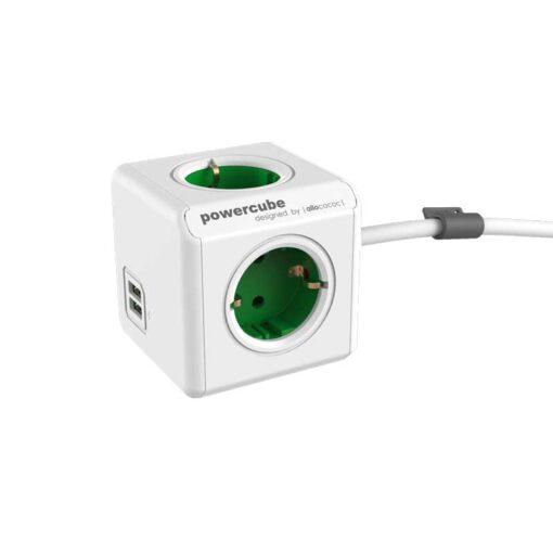 PowerCube Extended Duo USB Vert