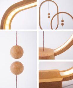 Henglamp Round Holz
