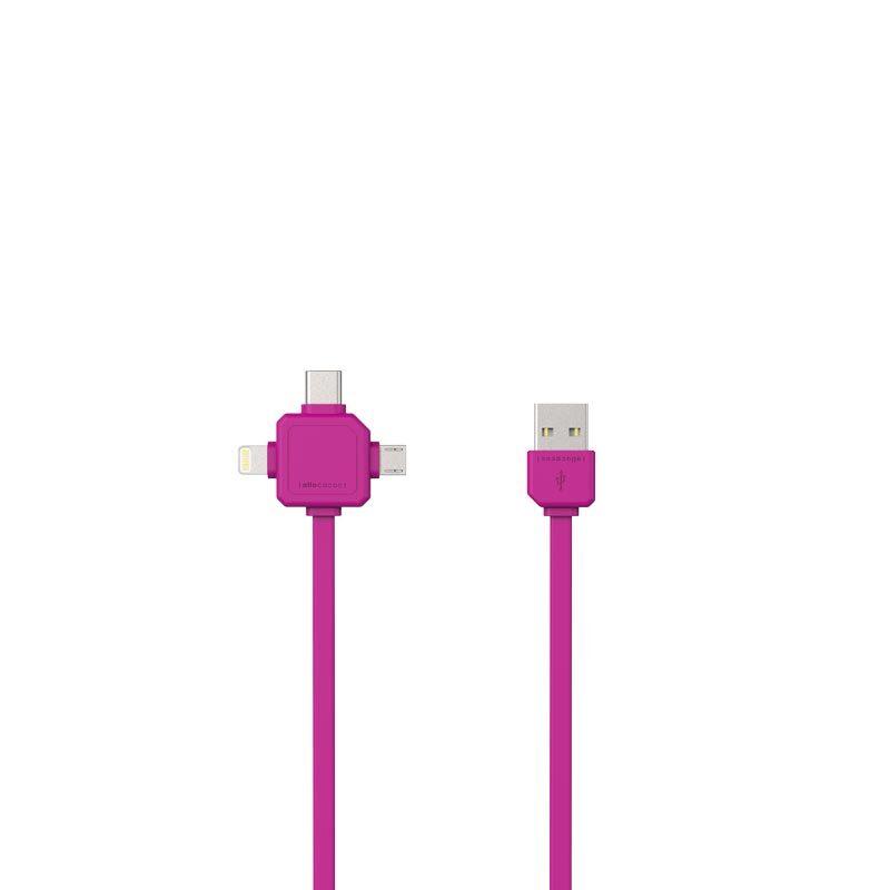 Power USB Kabel Roze