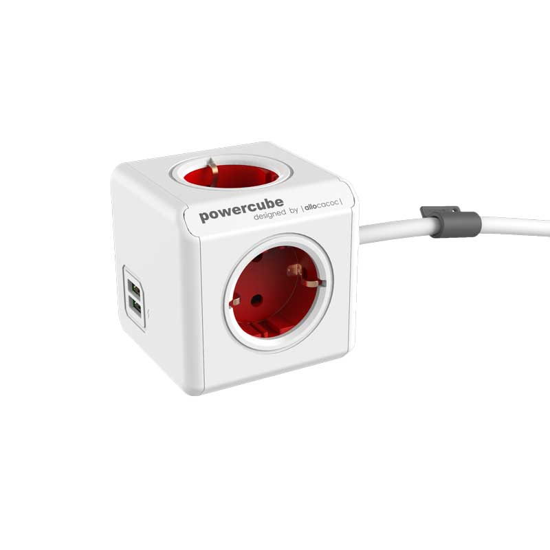 PowerCube Extended Duo USB Red