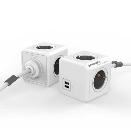 PowerCube Extended Duo USB grijs