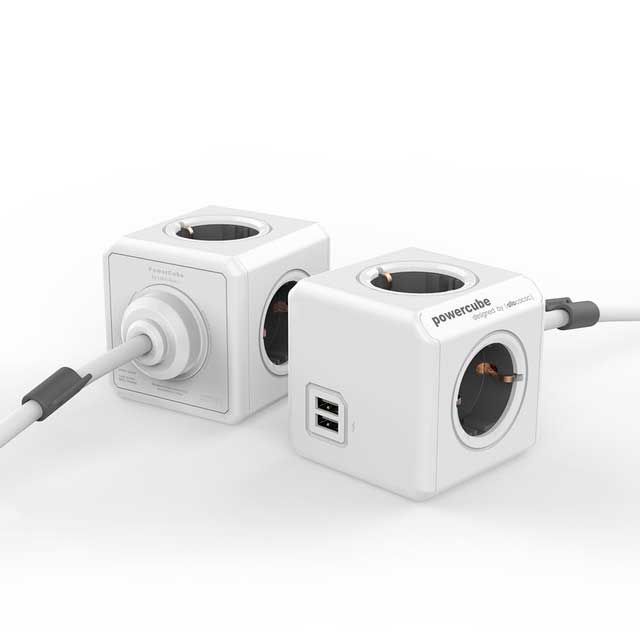 PowerCube Extended Duo USB grijs