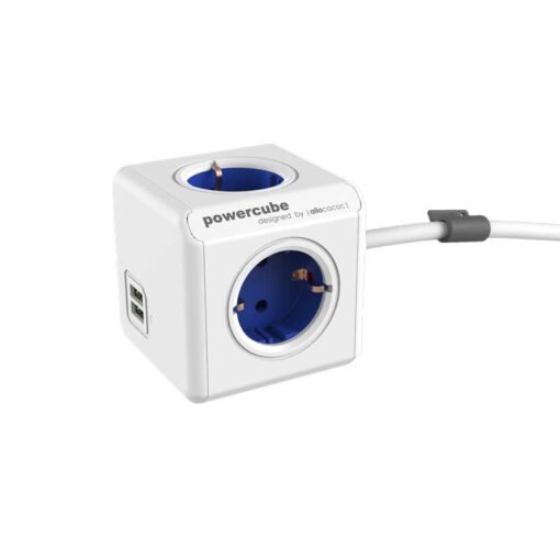 PowerCube Extended duo USB blue