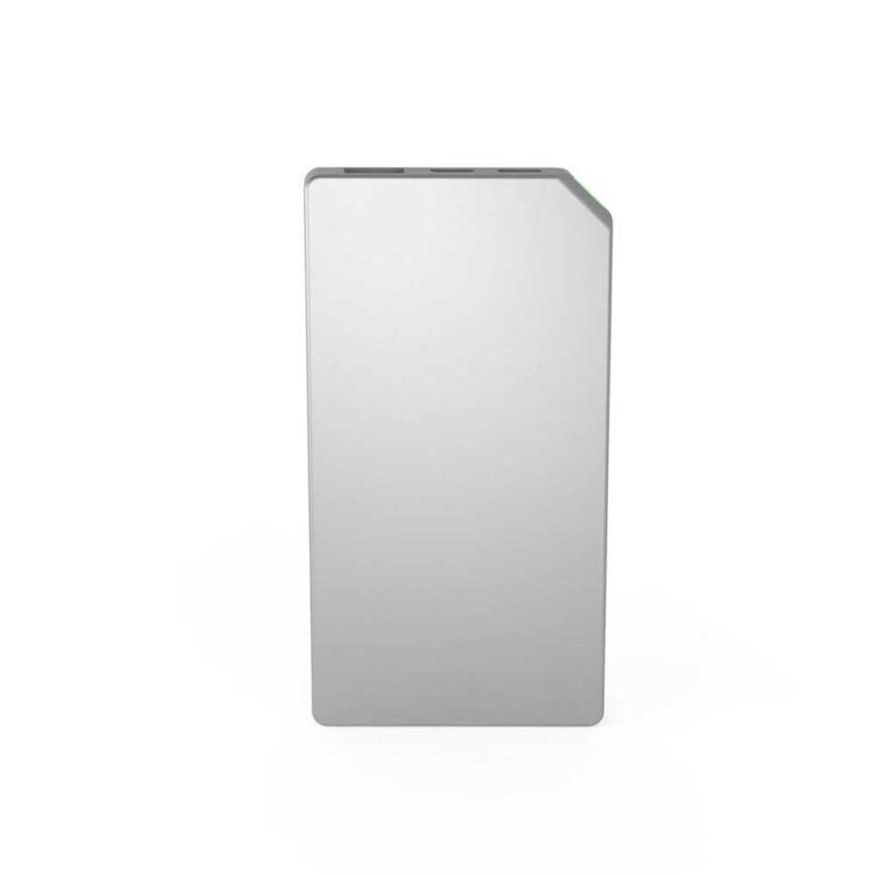 powerbank slim silver