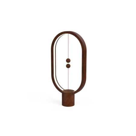 Henglamp Balance Lamp Ellipse Dark Wood