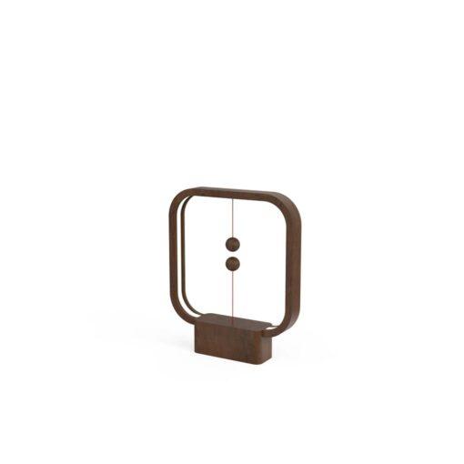 Henglamp Balance Lamp Square Dark Wood