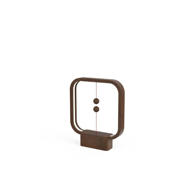 Henglamp Balance Lamp Square Dark Wood