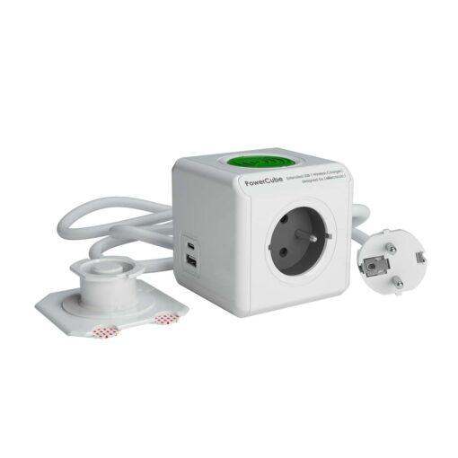 PowerCube Extended USB A+C WirelessCharger Type E België/Frankrijk